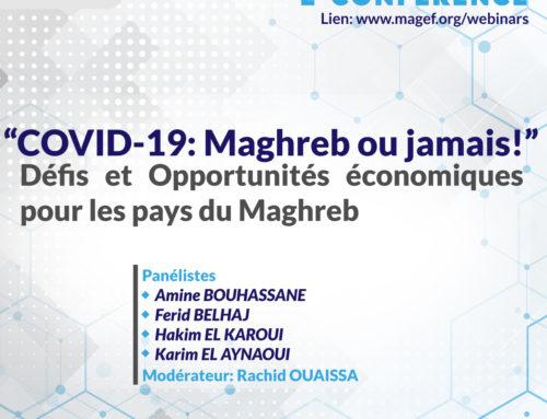 Communiqué de Presse – E-Conférence: « COVID-19 : Maghreb ou jamais »